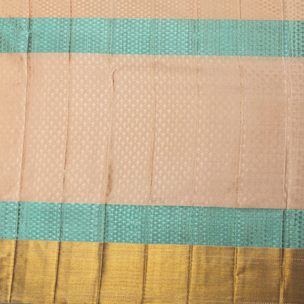 Kuberan Orange Green Kanchipuram Silk Saree