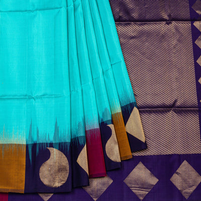 Kuberan Blue Pure Silk Saree