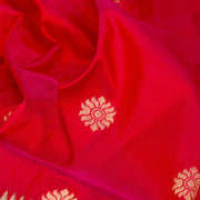 Kuberan Red Blue Paithani Silk Saree
