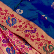 Kuberan Blue Paithani Silk Saree