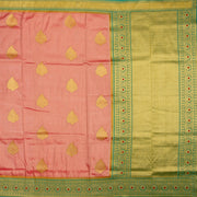 Kuberan Pink Green Tissue Paithani Semi Silk Saree