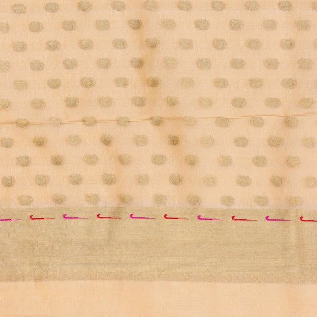 Kuberan Cream  Tissue Paithani Semi Silk Saree