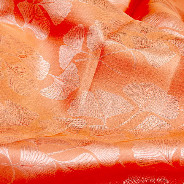 Kuberan Peach Purple Pure Kanchivaram Silk Saree