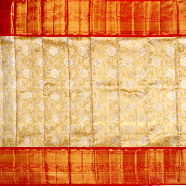 Kuberan Golden Pure Kanchivaram Silk Saree
