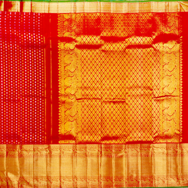 Kuberan Red Pure Kanchivaram Silk Saree