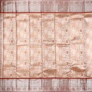 Kuberan Tortilla Brown Pure Kanchivaram Silk Saree