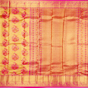 Kuberan Golden Pink Pure Kanchivaram Silk Saree