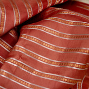 Kuberan Brown Cream Pure Kanchivaram Silk Saree