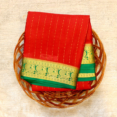 Kuberan Red Green Mysore Silk Saree