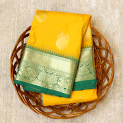 Kuberan Yellow Green Semi Silk Saree