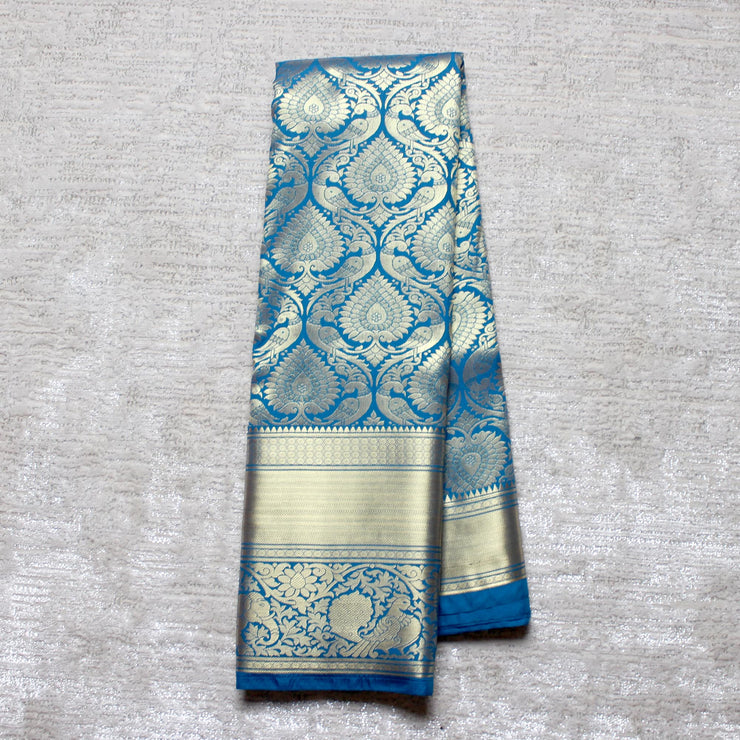 Kuberan Blue Semi Silk Saree