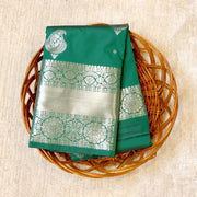 Kuberan Green Semi Silk Saree