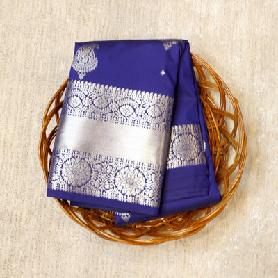 Kuberan Royal Blue Semi Silk Saree