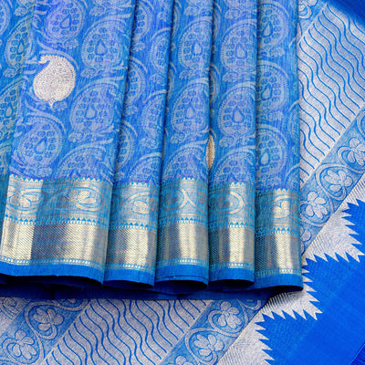 Kuberan Blue Kanchivaram Silk Saree