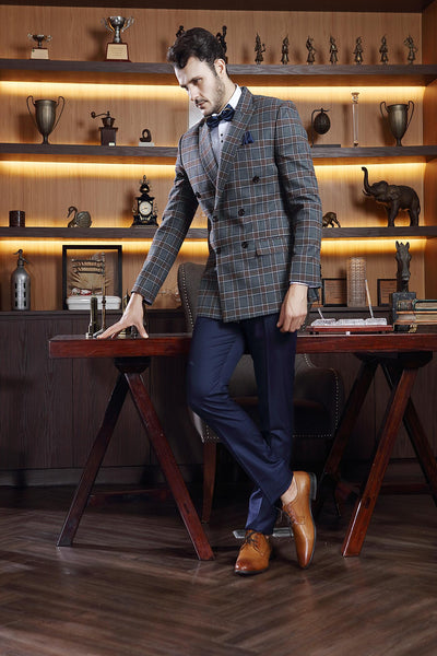 Kuberan Blue Checks Suit