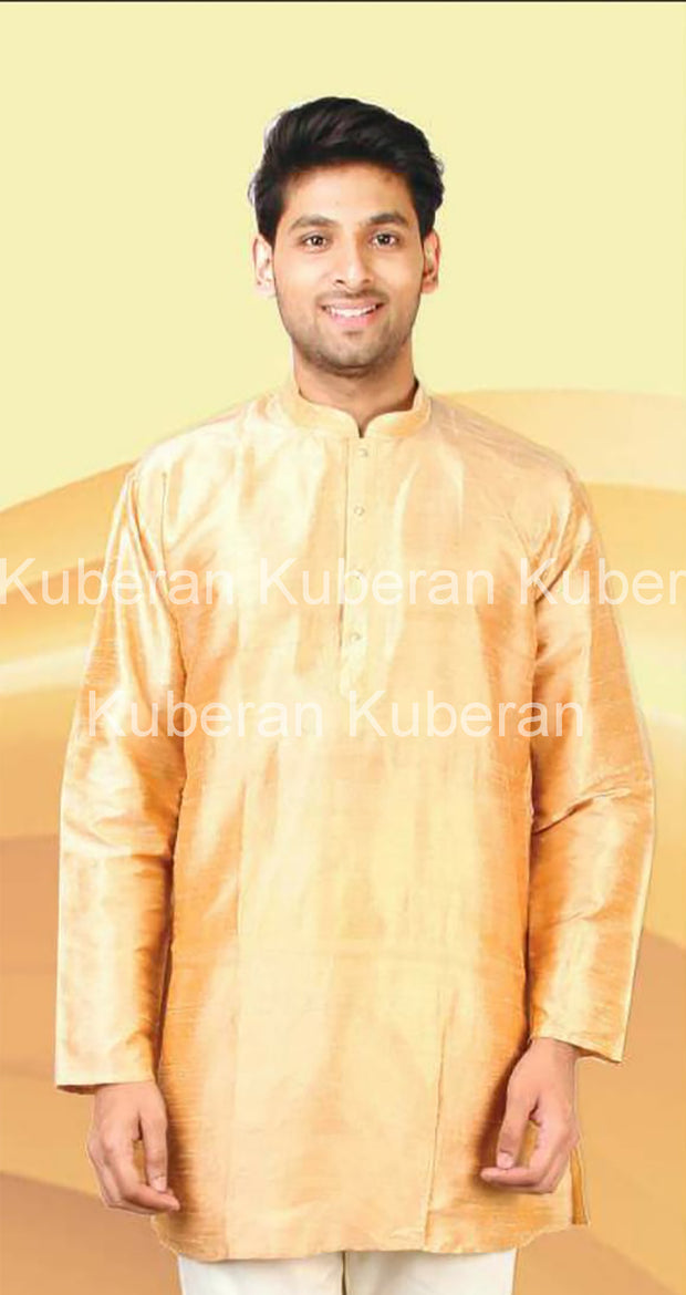 Kuberan Cream Raw Silk Kurta