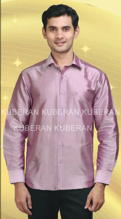 Kuberan Light Plum Raw Silks Shirt