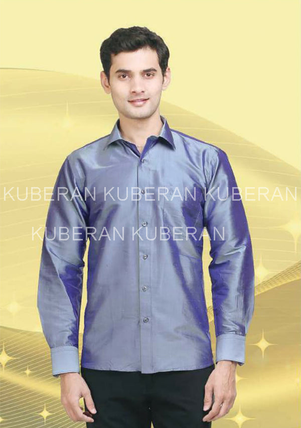 Kuberan Dark Lilac Raw Silks Shirt