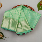 KUBERAN PISTA GREEN KANCHIVARAM SILK SAREE
