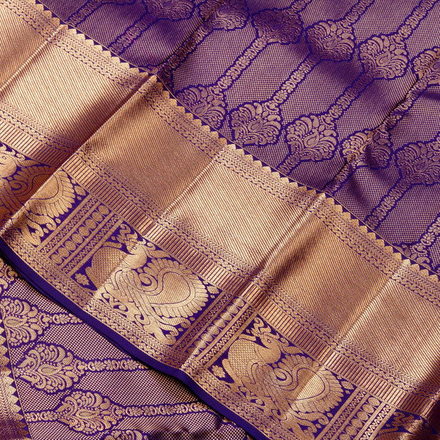 KUBERAN ROYALBLUE  KANCHIVARAM SILK SAREE