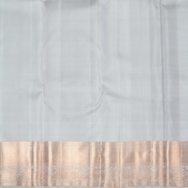 KUBERAN  SHORT GREY KANCHIVARAM SILK SAREE