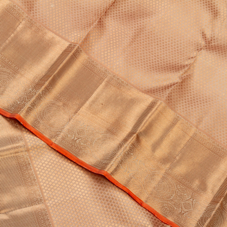 KUBERAN PEACH KANCHIVARAM SILK SAREE