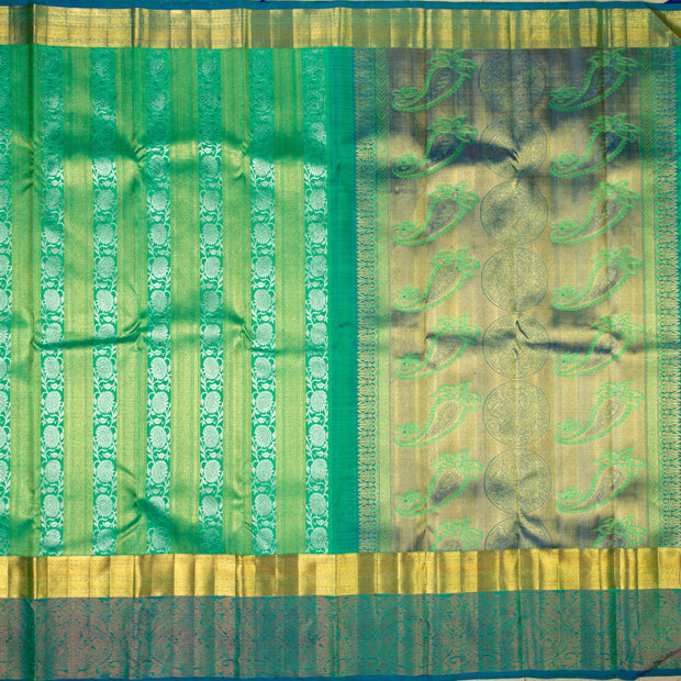 KUBERAN GREEN KANCHIVARAM SILK SAREE