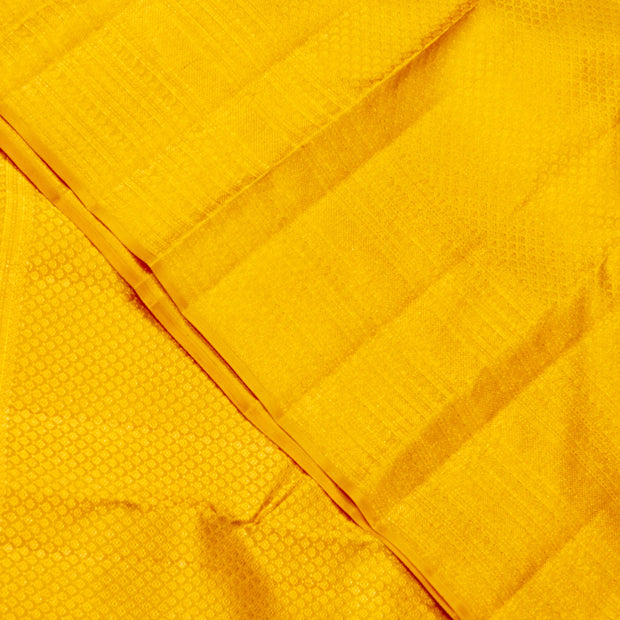 KUBERAN YELLOW KANCHIVARAM SILK SAREE