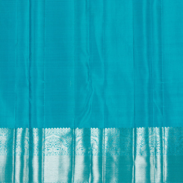 KUBERAN SKY BLUE KANCHIVARAM SILK SAREE