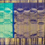 KUBERAN BLUE WITH ROYAL BLUE BORDER KANCHIVARAM SILK SAREE