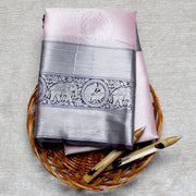Kuberan Pink Cotton Saree