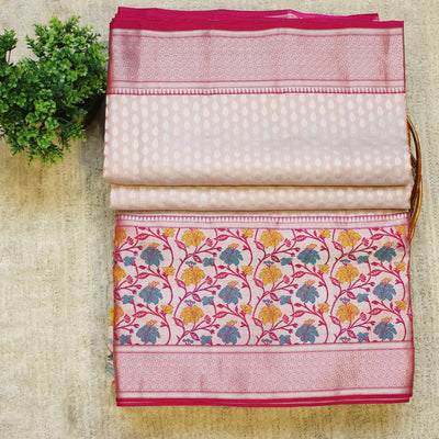 KUBERAN LIGHT LAVENDER PINK PURE SILK SAREE