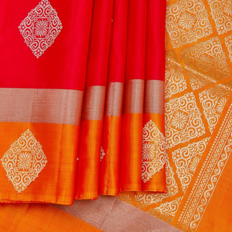 Kuberan strawberry Soft Silk Saree