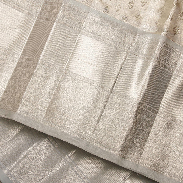 Kuberan Silver Kanchivaram Silk Saree