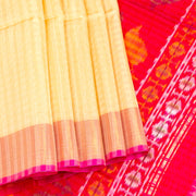 Kuberan Cream Red Maheshwari Saree