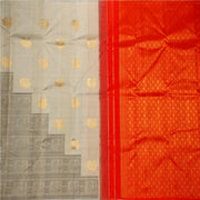 Kuberan Grey Red Kanchivaram Silk Saree
