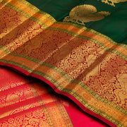 Kuberan Bottle Green Kanchivaram Silk Saree