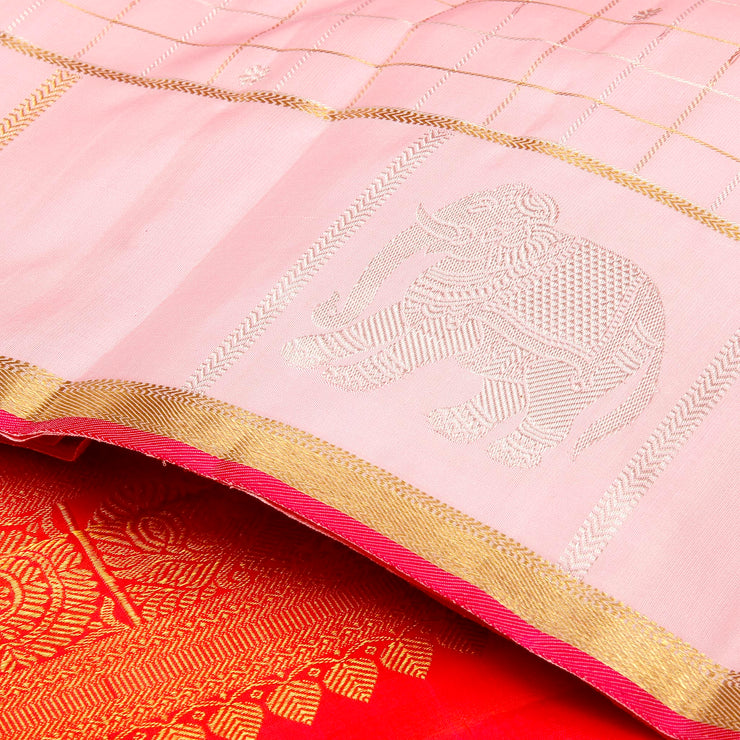 Kuberan Rose Kanchivaram Silk Saree