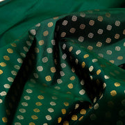 Kuberan Bottle Green Kanchipuram Silk Saree