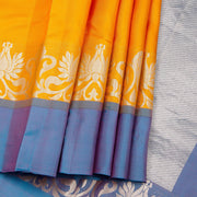 Kuberan Yellow Pure Silk Saree