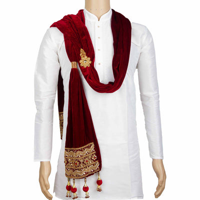 Kuberan Maroon Wedding Stole
