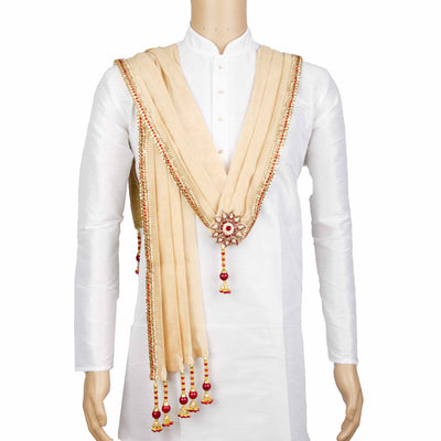 Kuberan Cream Wedding Stole