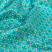 Kuberan Blue Habotai Pure Silk Saree