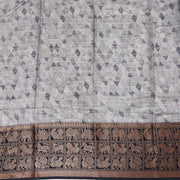 Kuberan Grey Tussar Pure Silk Saree