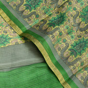Kuberan Green Pure Crepe Silk Saree