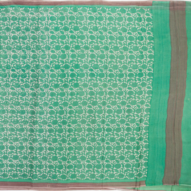Kuberan Light Green Pure Crepe Silk Saree