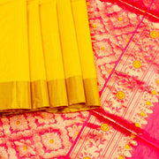 Kuberan Yellow  Maheshwari Saree