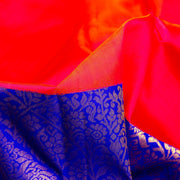 Kuberan Orange Blue Kanchivaram Silk Saree