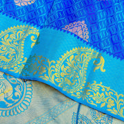Kuberan Aqua Blue Pure silk Saree