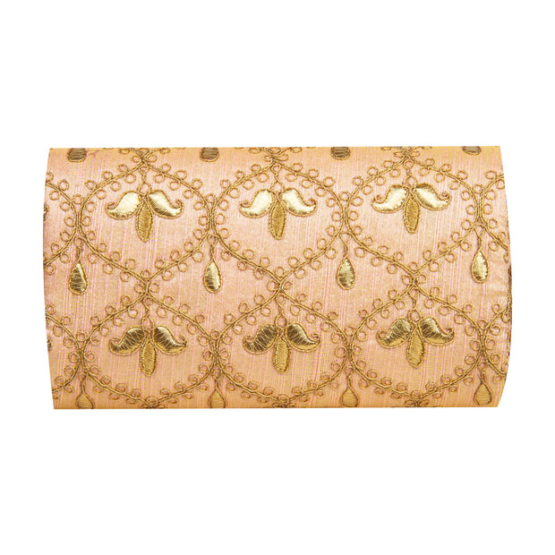 Kuberan Beige Gold Clutch